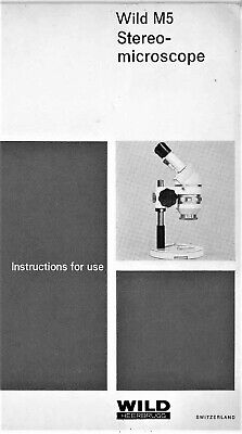 Wild M5 Stereo Microscope Instruction Manual Use On Cd