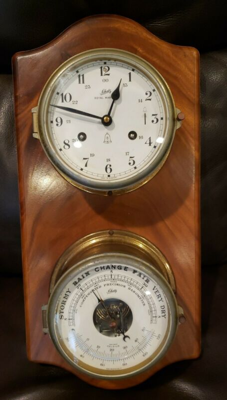Schatz Royal Mariner 8 Day Bell Clock with  Precision Nautical Barometer