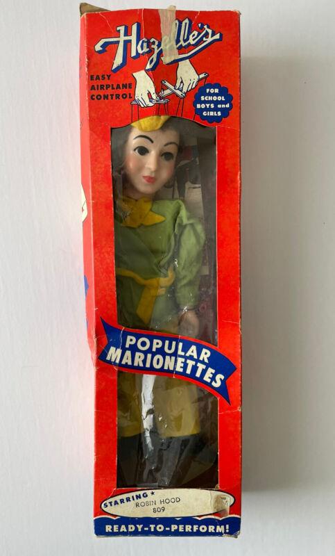 Vintage Hazelle's Marionette Puppet Robin Hood with Original Box! - Rare!