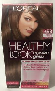 l oreal healthy look creme gloss hair color medium vanilla cr 232 me 8 new ebay loreal healthy look creme gloss hair color light beige brown iced praline 6bb