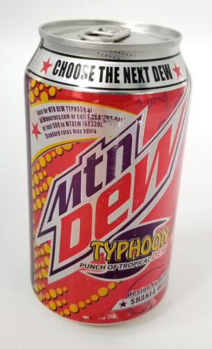 Mountain Dew Typhoon New Unopened Full Can - Dewmocracy II 2 - Tropical Punch