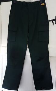 Mens Special Wear Dark Green Ambulance Paramedic Uniform Trousers 32