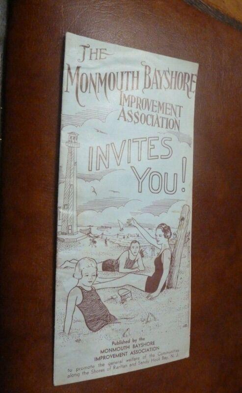 vintage the Monmouth Bayshore Improvement Association Sandy Hook Raritan NJ