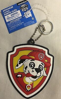 Paw Patrol Nickelodeon Shield Keychain - Fire Dog - Luggage Tag Zipper Pull