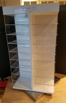 Rotating Countertop Coach Eyeglass Sunglasses Glasses Display Case 36 Shelves