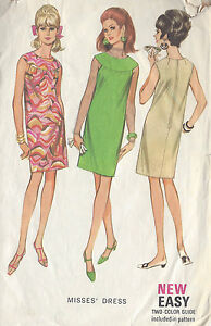 1967 Vintage Sewing Pattern B32 DRESS (R884)