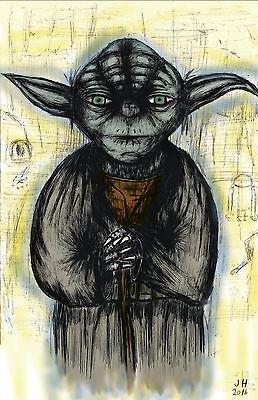 T1942 20x30 24x36 Silk Poster yoda Star Wars   Master Jedi Star Wars Art Print