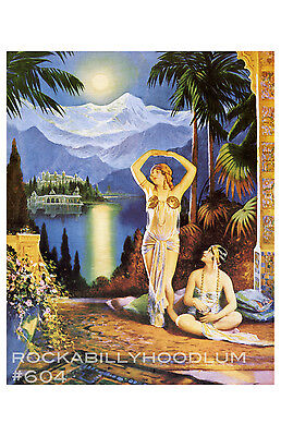Pin Up Girl Poster 11x17 art deco flapper girls glamour exotic maidens