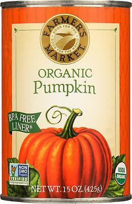 100% Organic Pumpkin - Canned (3 - 15 OZ) - Halloween Fruit Snacks