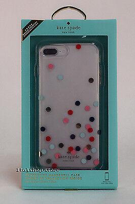 Kate Spade iPhone 7 Plus & iPhone 8 Plus Case Gold Foil Confetti Dot Multi Clear