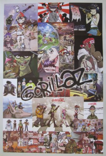 """GORILLAZ """"GROUP COLLAGE"""" POSTER FROM ASIA-Alt Rock,Pop,Electronica,Hip Hop Music"""