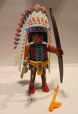 Playmobil / 1 Indianer mit Bogen ( Häuptling ) / Exclusive Figur / Neu