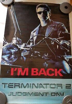 "Terminator 2 ""I'm Back"" RARE Movie Poster 1991 Vintage Schwarzenegger"