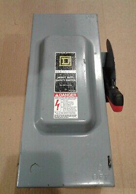 H323n Square D 100amp 240v 3 Phase Heavy Duty Safety Switch