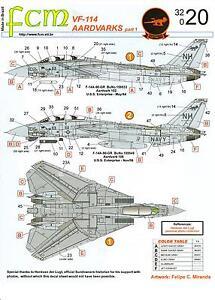FCM Decals 1/32 GRUMMAN F-14 TOMCAT AARDVARKS VF-114