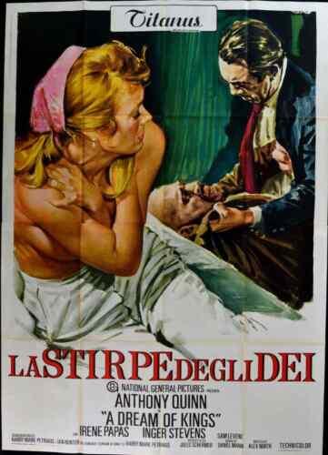 A DREAM OF KINGS Italian 4F movie poster 55x79 ANTHONY QUINN IRENE PAPAS 1969 NM