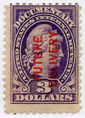 USA 1918 FUTURE DELIVERY STAMP $3...SCOTT RC12...MINT