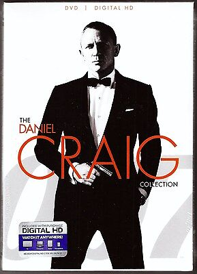 The Daniel Craig Collection 007 DVD + Digital HD 3-Film James Bond BRAND NEW