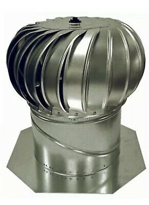 Internally Braced Aluminum Turbine - Air Vent 12-in Aluminum Internally Braced Roof Turbine Vent Large Flashing New.