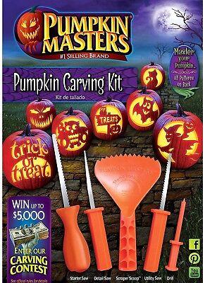 Pumpkin Carving Kit & Patterns.               PumkinMasters *Safer than Knives* (Pumpkin Carving Knives)