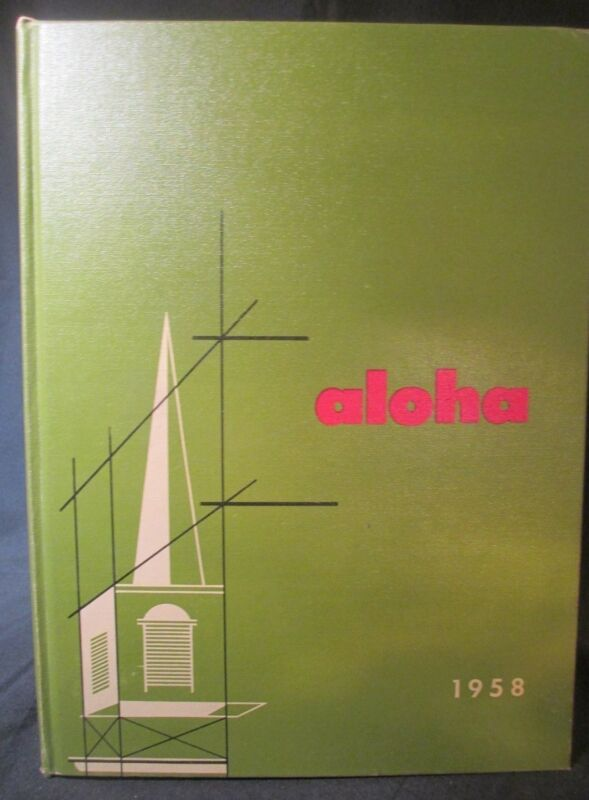 1958 Aloha Western Maryland College Yearbook, Westminster, Maryland