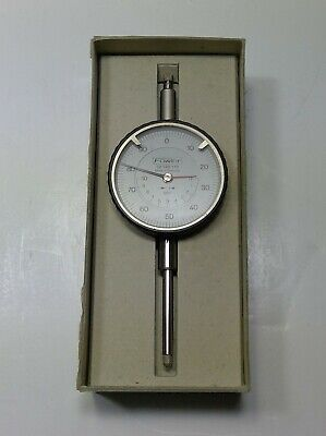 Fowler 0 - 1 White Face Ultra Dial Gage 52-528-110 Made In Germany