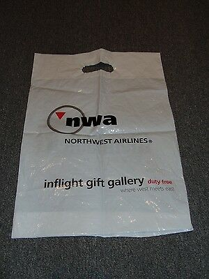 Plastiktüte plastic bag NWA Northwest Airlines und Glenfiddich Whiskey