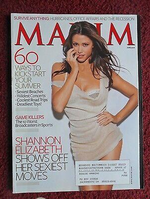 Maxim Mens Magazine Jun 2008   Shannon Elizabeth Ashanti Diego Luna