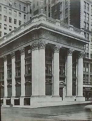 Columbia Trust Company Building, New York City, Magic Lantern Glass Slide