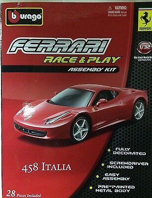 Bburago - 18-45200 - Asembly Kit Ferrari Italia 458 Scale 1:32 - Red
