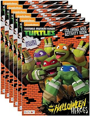NEW Teenage Mutant Ninja Turtles Halloween Activity Book w/ Stickers (Pack of 6)](Teenage Halloween Games)