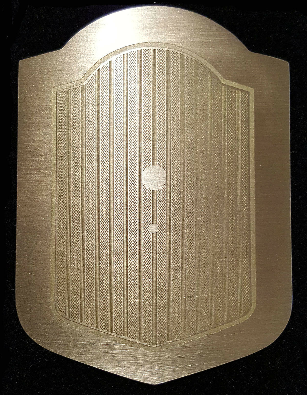 1934 Packard Super Eight Radio Delete Plate