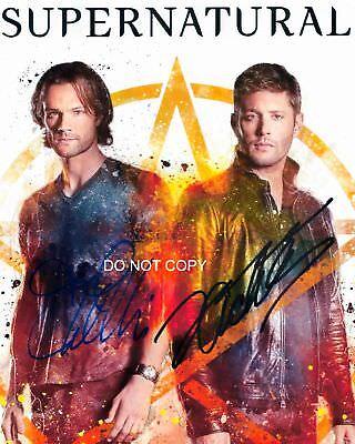 Jensen Ackles   Jared Padalecki 8X10  Reprint Signed Photo  2 Supernatural Rp