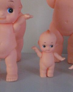 KEWPIE DOLL - REMEMBER THESE?  HERE IS THE 10CM ONE - 2ND SMALLEST IN THE FAMILY