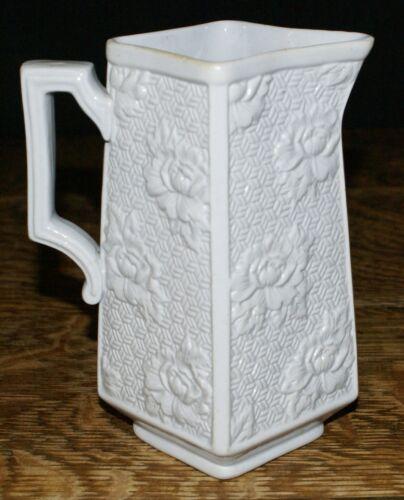 19th Century Brownfield & Sons Salt Glazed Relief Molded Pitcher MONTANA Pattern