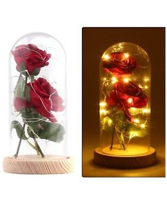 Beautiful artificial rose light gift