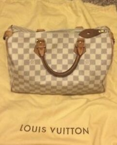 100%AUTHENTIC LOUIS VUITTON DAMIER AZUR SPEEDY 30