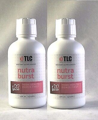 Iaso Nutra Burst 16 Oz   2 Pack  Two Months Supply 100  Organic Free Shipping