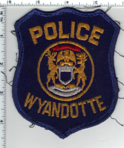 Wyandotte Police (Michigan) Uniform Take-Off Shoulder Patch from 1980