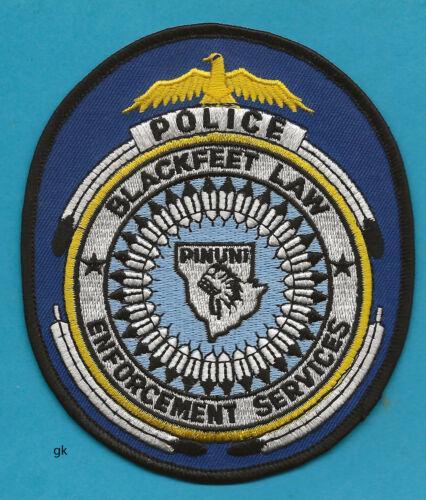BLACKFEET TRIBAL LAW ENFORCEMENT MONTANA POLICE SHOULDER PATCH