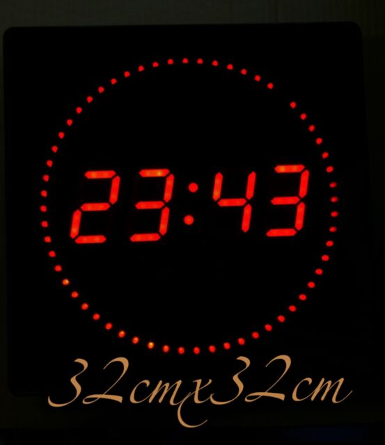 Large LED Digital Wall Clock With Date Temperature 460x220x30mm