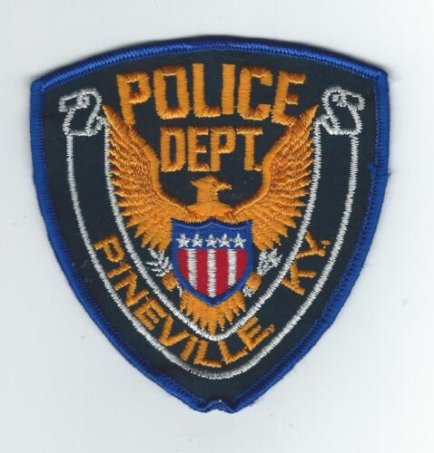 VINTAGE PINEVILLE, KENTUCKY  POLICE DEPT.(CHEESE CLOTH BACK)   patch