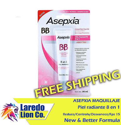 1 Asepxia Liquid Make Up Bb 8 en 1 Hidro Force 8 In 1 Maquillaje Piel Radiante