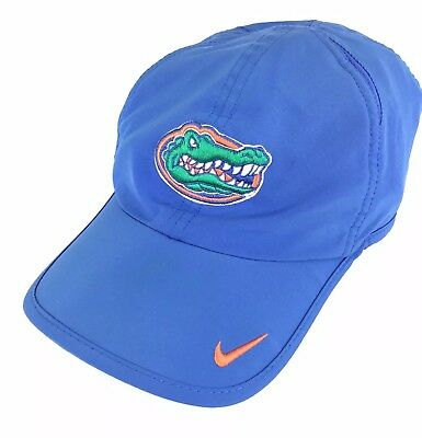 finest selection c4230 859dd Florida Gators Nike Swoosh Brand Blue Baseball Cap Hat Adj Men s Poly Dri  Fit