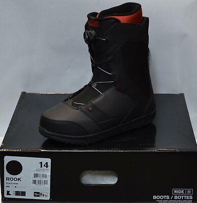 '19 / '20 Ride Rook Boa Size 14 Men's Snowboard Boots - Black *NEW*