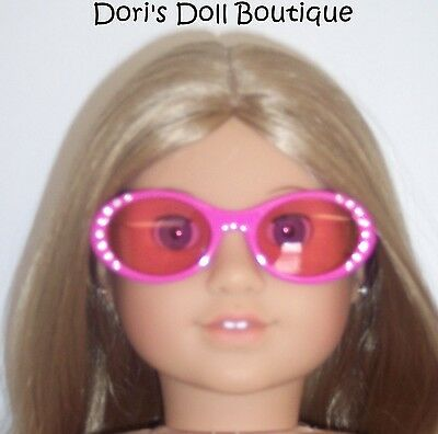 Doll Clothes fits American Girl * PINK SUNGLASSES W/RHINESTONES * Free USA Ship! on Rummage