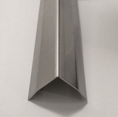 1 X 1 X 48 Stainless Steel Corner Guard W Hug Edges 90 Degree Angle 20ga