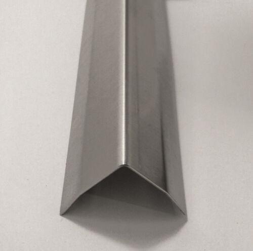 1 x 1 x 48 Stainless Steel Corner Guard w/ Hug Edges, 90 Degree Angle,  20ga