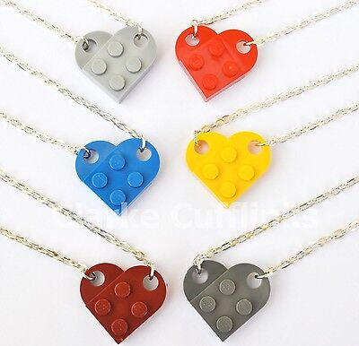 LEGO® LOVE HEART NECKLACE GIRLFRIEND BOYFRIEND BEST FRIEND FRIENDSHIP WIFE