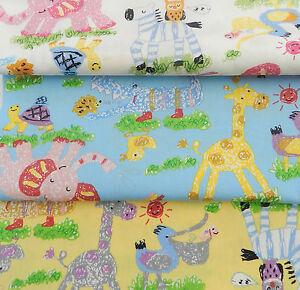 per-FQ-HALF-METRE-animal-party-choice-of-3-colours-100-cotton-poplin